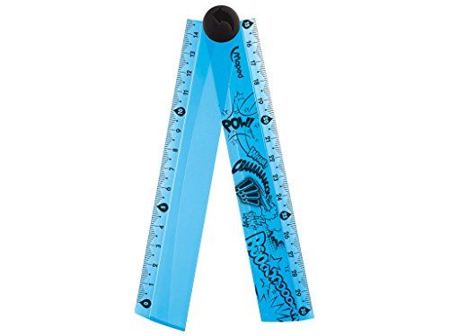 Maped Règle pliable 15 cm à 30 cm plastique Bleu Translucide