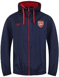 55ccb0e9a1d Arsenal FC Official Football Gift Mens Shower Jacket Windbreaker