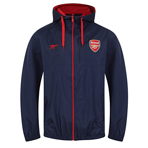 bae6c5041b1 Arsenal FC Official Football Gift Mens Shower Jacket Windbreaker Large