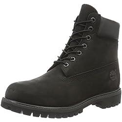 Timberland 6 inch Premium Waterproof, Botas De Cuero Impermeables Hombre, Negro (Black Nubuck), 43 EU / 9 W US