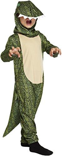 Glossy Look Jungen-Dinosaurier-Einteiler - Kostüm  Gr. S (4-6 Jahre), grün