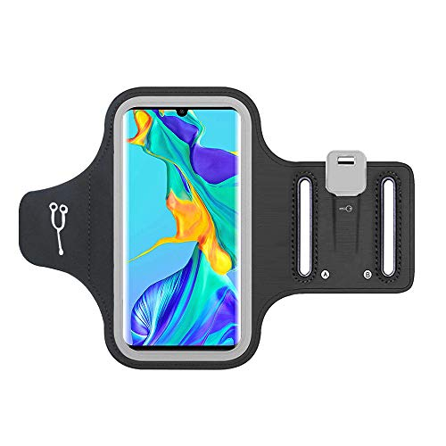 Sportarmband für Huawei P30 Pro, reflektierendes Band, strapazierfähig, bequem für verstellbare Schultern, Anti-Schweiß, ideal für Fitness, Joggen, Radfahren, Wandern, und alle Übungen