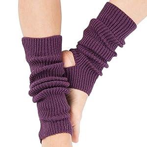 HATCHMATIC Berufsfrau Beinschutz Yoga Socken Lage Latin Dance Leg Sets Knit Ort Schutz Wolle Yoga: Lila
