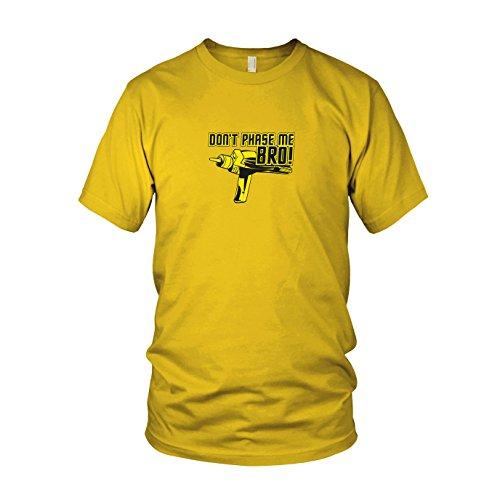Don't Phase me Bro - Herren T-Shirt, Größe: XXL, Farbe: gelb (Star Trek Next Uniform-farben Generation)