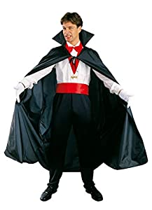 Ciao-Costume Mantello nero, taglia unica adulto Disfraces, color negro, (62032)
