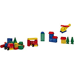 Globo Toys Globo 37439 Legnoland Cheerful Bricks - Cubo