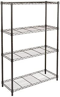 AmazonBasics 4-Shelf Shelving Unit, up to 160 kg per shelf, Black (B01LYBQXRH) | Amazon price tracker / tracking, Amazon price history charts, Amazon price watches, Amazon price drop alerts