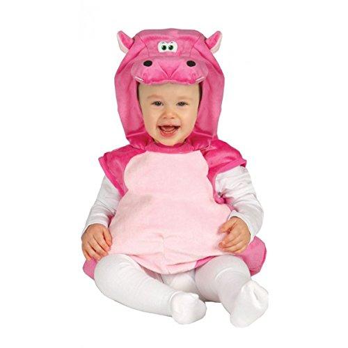 Karneval Baby Kostüm Hippo, Flußpferd pink (Kopf Kostüm Hippo)