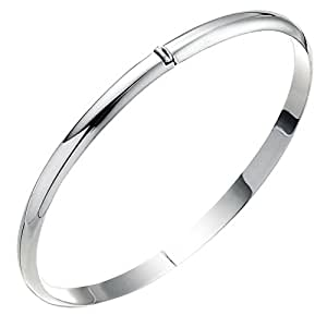 Sterling Silver Hinged Slim Bangle
