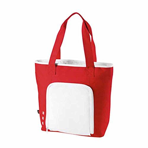 Halfar - Sac cabas isotherme shopping ou pique-nique - 1807551 - rouge et blanc