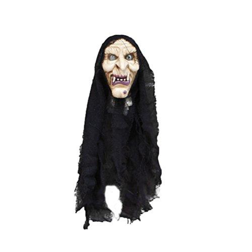 p Creepy Scary Hängenden Schädel Geist für Party Dekoration (Geist Halloween Animatronics)