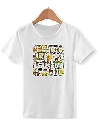 DIYthinker Animales de la Fauna de la Sabana Africana Cuello tripulación de la Camiseta para Chico