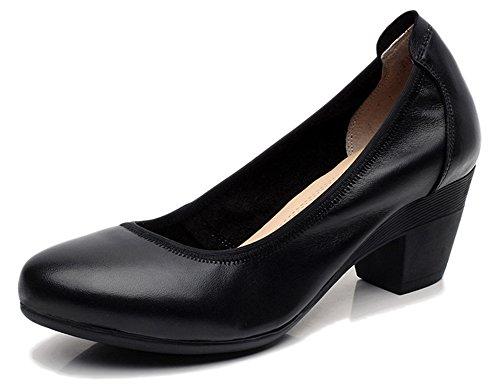 Fangsto  Chunky Heel Pumps, Escarpins pour femme Multicolore Couleurs mélangées Noir