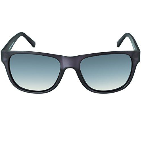 DUCO Klassische Square Polarisierte Acetat Sonnenbrille für Herren und Damen UV400 2145 (Matt Transparente/Grau)