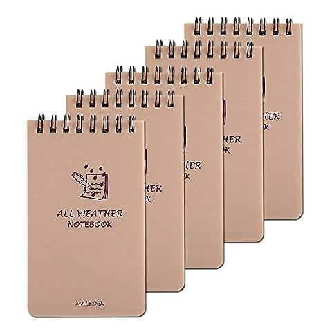 Maleden Allwetter-Spiral-Notizbuch, wasserdichter Steno-Notizblock, kratzfest, für Outdoor-Aktivitäten, Aufzeichnung und Gefecht