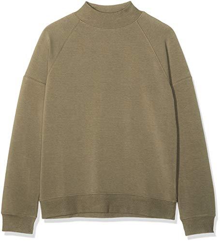find. Soft Jersey High Neck Sweatshirt, Grün (Khaki), 46 (Herstellergröße: XXX-Large) Khaki Damen Sweatshirt