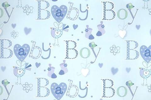 Vogel Socken, Maus, Blue New Born Baby Boy Luxus-Geschenkpapier,, blau,