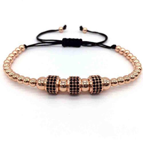 Imagen de jyhw caliente marca de moda de los hombres pulsera trenzada macrame joyería anil arjanda unisex pave cz pulsera del encanto 4 mm cuentas de cobre regalo de la joyería,7