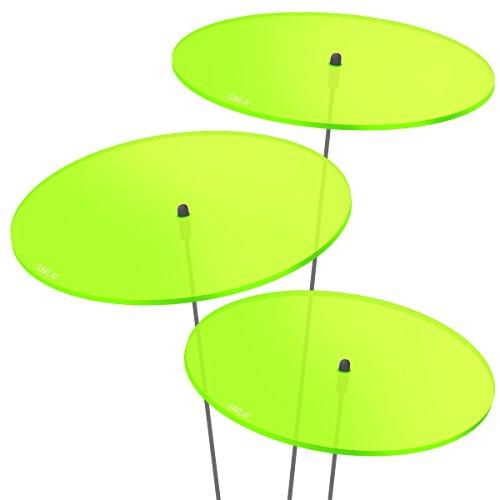 """SUNPLAY """"Sonnenfänger-Scheiben in GRÜN, 3 Stück je 20 cm Durchmesser im Set + 70 cm Schwingstäbe"""