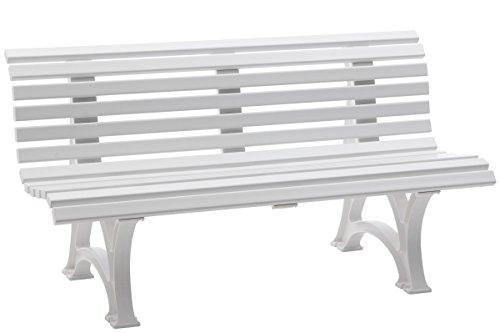 BLOME Helgoland 3-Sitzer Gartenbank, weiß,Kunststoff, 150x64x80cm