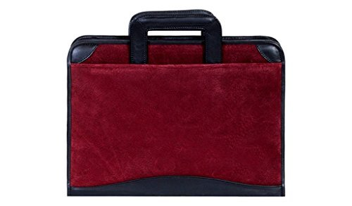 Scully Suede Zip Binder With Drop Handles 96z-19 Color: Burgandy by Scully (Zip Scully)