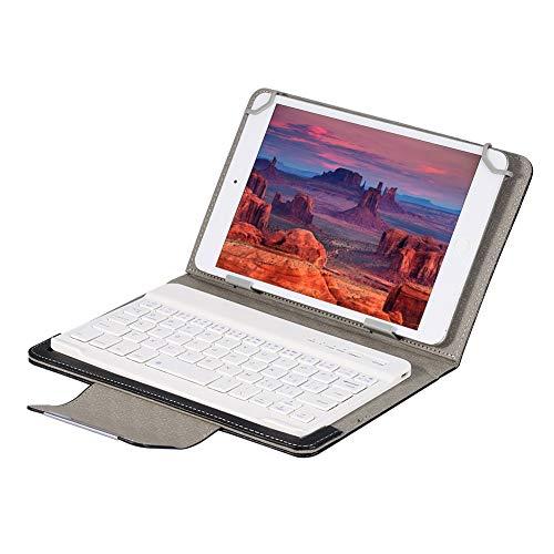 Eboxer Funda con Teclado Bluetooth Portátil Desmontable, Soporte Incorporado se Sujeta de Forma Segura para 9.7-10.1 in iPad/Tableta Samsung, para Huawei/Windows