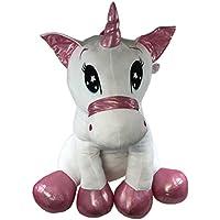 XXL Plüsch Einhorn 100cm - PINK - Riesen Unicorn 1m Kuscheltier Plüschtier