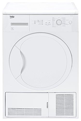 Beko DCU 7230 Kondenstrockner / B / 7 kg / weiß / Freuchtigkeitssensor / Automatischer Knitterschurz / Trommelbeleuchtung / Reversierende Trommelbewegungen
