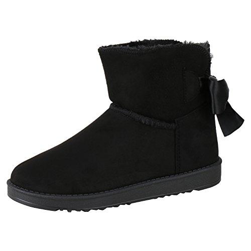 Napoli Bow Da Comode New Imbottite on Nero Boots Stivali Slip Nero fashion Scarpe Calde Donna Jennika nrrpT6