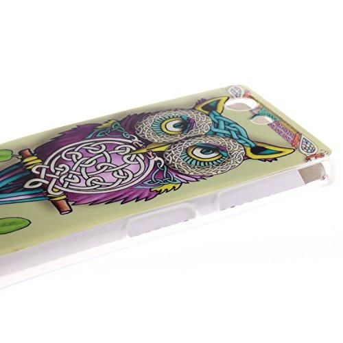 Nancen Sony Xperia Z3 Compact / Z3 mini (4,6 Zoll) Ultra Slim Weich TPU Material Design Silikon Handytasche Schutzhülle, Painted Mode Anti-Kratz Handyhülle Case Hülle Backcover Tasche