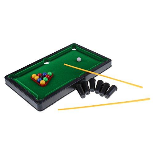Gazechimp Mini Pool Billardtisch inkl. Zubehör (Billard Queues, Kugeln, Dreieck, Halterung), Billiardspiel Tischspiel, Maße: 38 x 23,2 x 3 cm