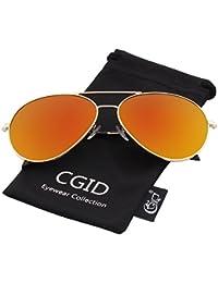 CGID MJ809 Lunettes de soleil Pilot polarisées standard métalliques classiques originales Flash réfléchissantes verres UV400