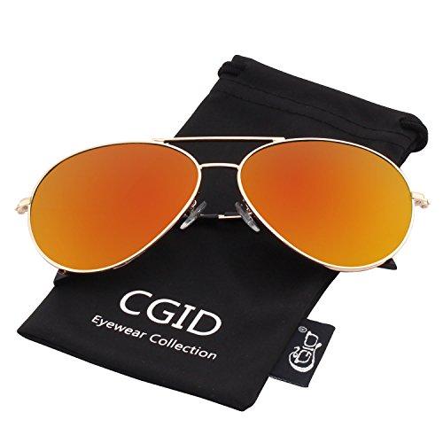 CGID Mode Flieger Metallrahmen Verspiegelt Linse Piloten Pilot Polarisierte Sonnenbrille Pilotenbrille Für Damen UV400 Schutz CG809 -