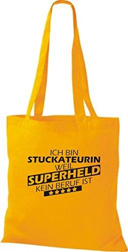 Tote Bag Shirtstown Sono Bloccata Perché Il Supereroe Non È Una Professione Gialla