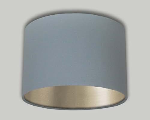 Grey Linen Drum Lampshade Champagne Inner 20cm 25cm 30cm 35cm 40cm 50cm 60cm 70cm Lamp Shade Lightshade