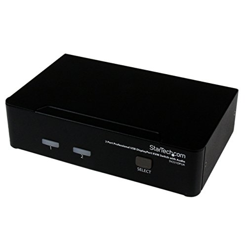 StarTech.com Switch KVM DisplayPort USB Professionale a 2 Porte con Audio