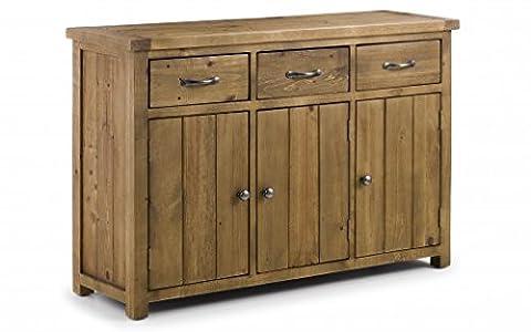 Julian Bowen Aspen TV Unit,Sideboard and Storage Basket (Aspen