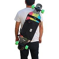 Mochila para Llevar el Longboard, Skateboard Completo, Idea de Regalo San Valentin. Color Negro.