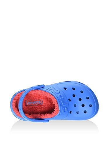 Crocs Hilo Lined Clo, Sabots Mixte Enfant bleu/rouge (ocean/flame)