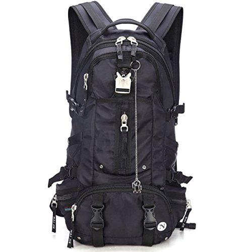Moda Tempo Libero All'aperto Camping Viaggi Escursioni Borsa A Tracolla Unisex Black