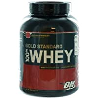 Optimum Nutrition 100% Whey Gold Standard (5lbs) Delicious Strawberry, 2.273 kg