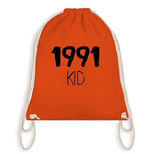 Geburtstag - 1991 KID - Turnbeutel I Gym Bag Orange