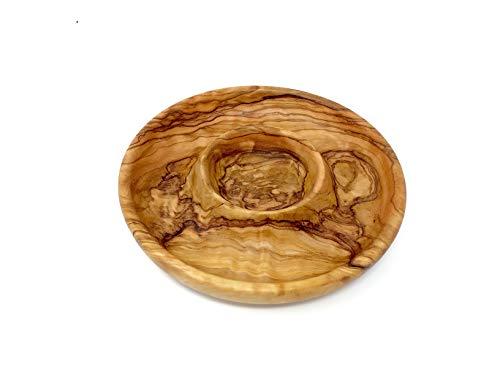 Teller 15cm für Oliven handgemacht auf Mallorca Naturbelassen Unikat kleiner Teller Holzteller