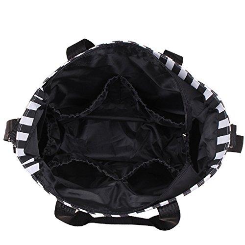 KF Baby Wickeltasche Value Set + Kinderwagen Haken, Wet Dry Tasche, Wickelunterlage, mehr schwarz
