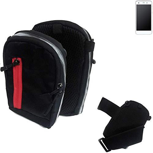 K-S-Trade Outdoor Gürteltasche Umhängetasche für Vestel V3 5570 schwarz Handytasche Case travelbag Schutzhülle Handyhülle