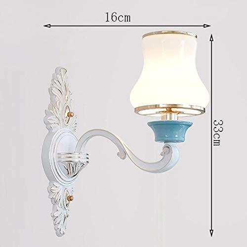 Diss JM Wandlampe- Kreative Weiße Wohnzimmer Wandleuchte Keramik Atmosphärischen Gang Wandleuchte Schlafzimmer Nachttischlampe (Color : Green, Size : 45x36cm)