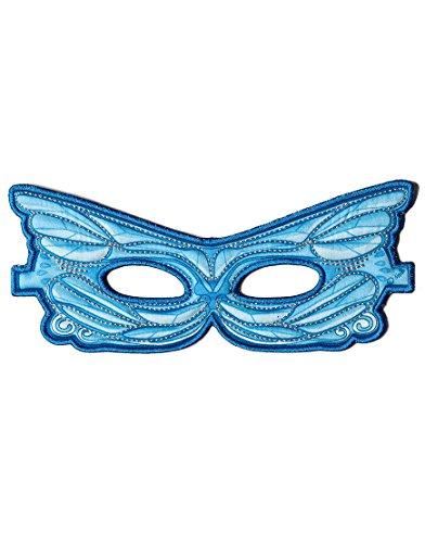 Dreamy Dress-Ups 50783Mask, Stoffmaske, Blue Fairy, Elf/Fee blau