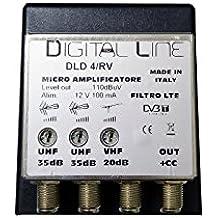 MICRO AMPLIFICATORE DA PALO LTE 2 INGRESSI UHF 1 INGRESSO VHF 35DB 100MA 110DBUV