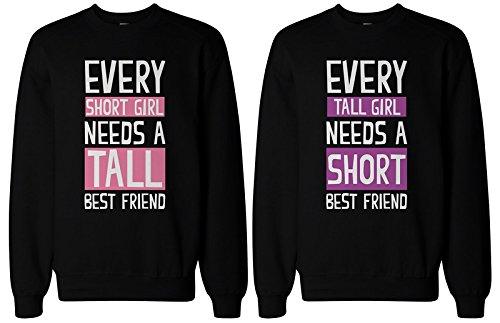 BFF Regalos Tall–y corta mejor amigo Sudaderas a juego para mejores amigos