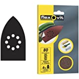 Flexovit Velcro Backed Detail Sanding Sheets - 105mm x 175mm - Fine (6pk)